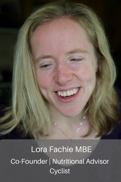 Lora Fachie MBE. Co-founder, nutritional advisor, cyclist