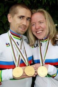 Lora and Neil with 3 World Championship gold medals between them