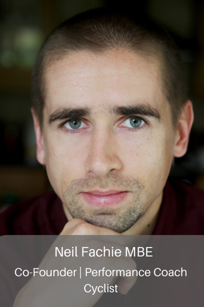 Neil Fachie MBE. Co-founder, performance coach, cyclist