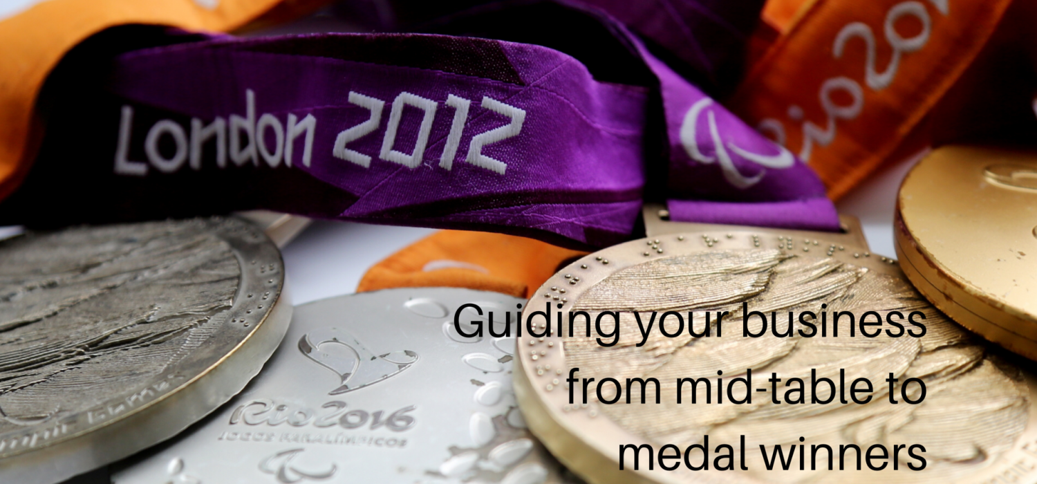 Guiding your business from mid-table to medal winners - puncture contains Paralympic medals from London 2012 and Rio 2016